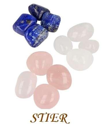 Sterrenbeeld Stier Bergkristal, lapis lazuli en Roze kwarts